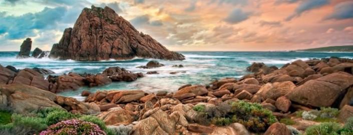 sunset australia beach